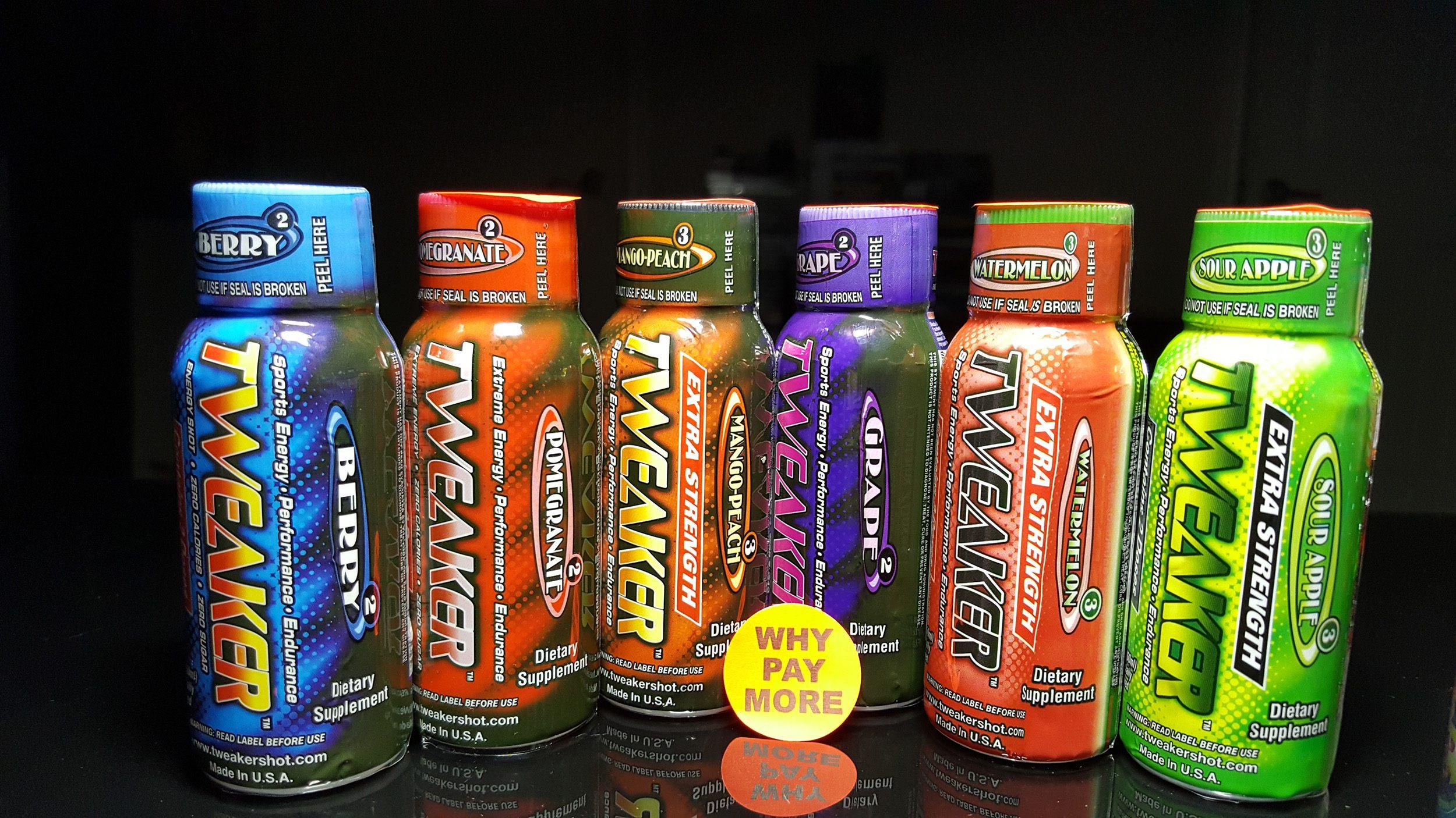 All About Tweaker Energy Shots