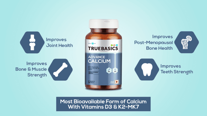 Get Stronger Bones with Scientifically Prepared TrueBasics Calcium Tablets