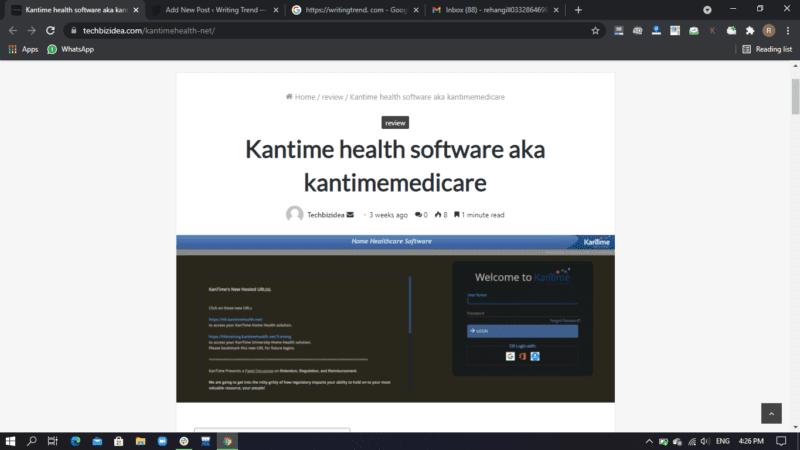 kantime health software aka kantimemedicare 2021