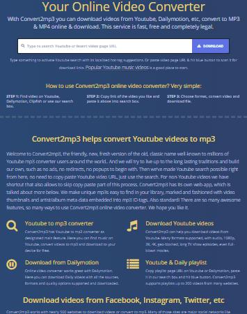 Your Online Video Converter – Convert2mp3