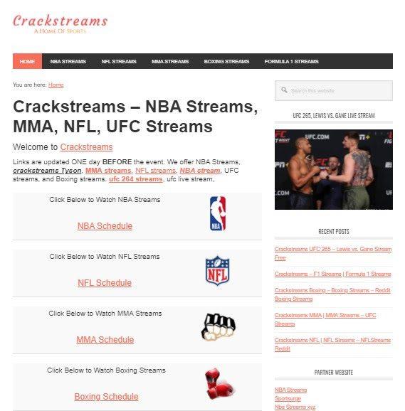 Crackstreams – NBA Streams, MMA, NFL, UFC Streams