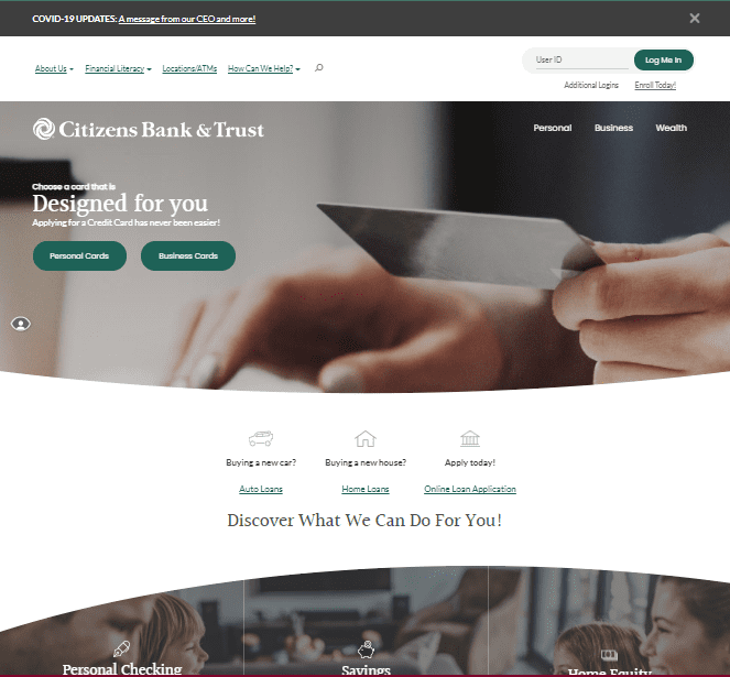 Citizens Bank & Trust   Home