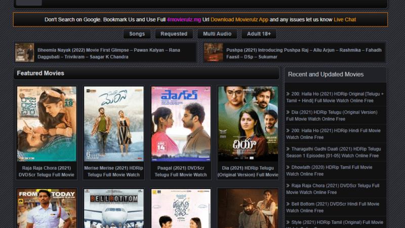 4movierulz – world wide Online Movie streaming Website